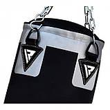 🔥 Боксерский мешок RDX Leather Black 120 см 40-50 кг кожа черный, фото 4