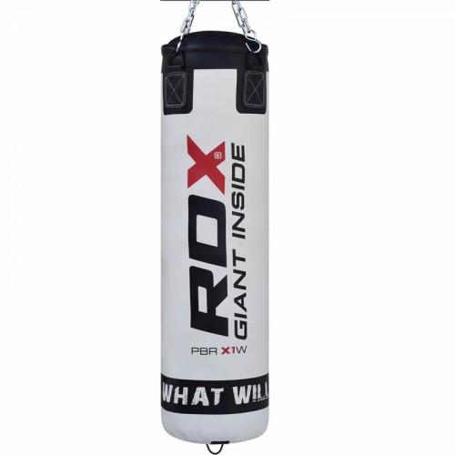 Боксерський мішок RDX Leather White 1.2 м, 40-50 кг