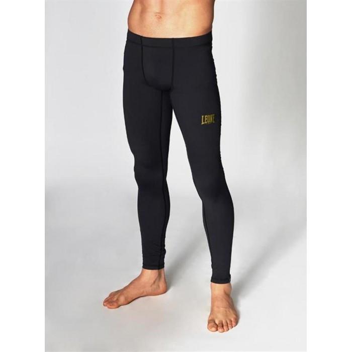 Штаны компрессионные для мужчин Leone Black/Gold L черный