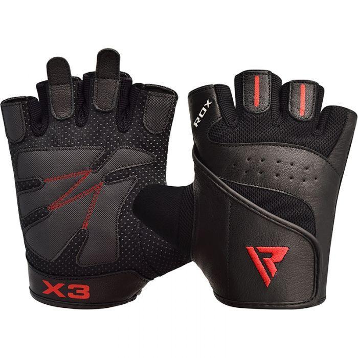 Перчатки для фитнеса мужские кожаные RDX S2 Leather Black XXL черный