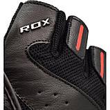 Перчатки для фитнеса мужские кожаные RDX S2 Leather Black XXL черный, фото 2