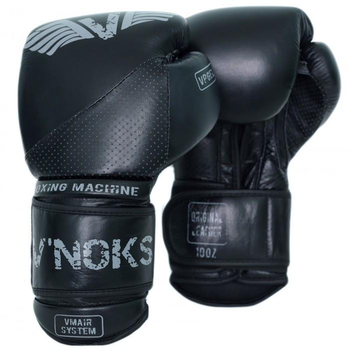 Боксерские перчатки кожаные V`Noks Boxing Machine 12 oz унций черный