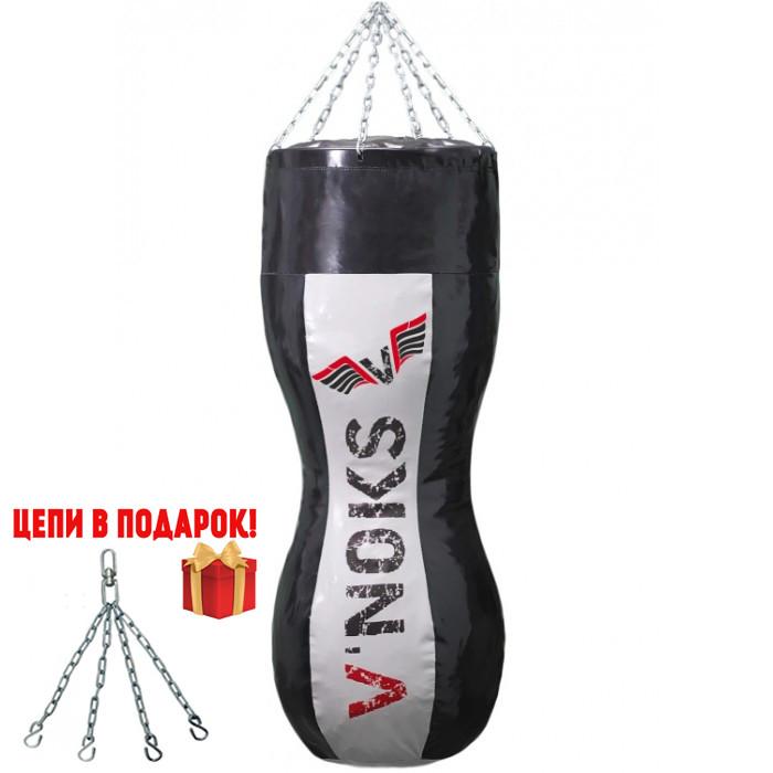 🔥 Боксерский мешок силуэт V`Noks Gel 110 см 50-60 кг черно-белый + цепи в подарок!🎁
