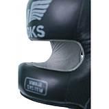 Боксерский шлем кожаный V`Noks с бампером Boxing Machine M черный, фото 3
