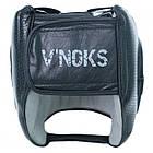Боксерский шлем кожаный V`Noks с бампером Boxing Machine XL черный, фото 2