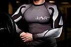 Рашгард мужской с длинным рукавом VNK Scath Grey L серый, фото 7