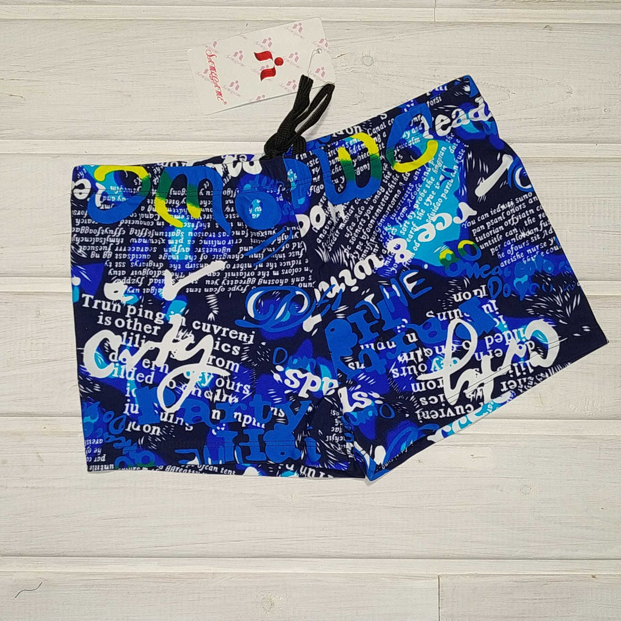 Плавки шорты  купальные для мальчика Same Gamе 907 синие буквы 116 122