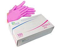 Розовые нитриловые перчатки Polix Pink XS
