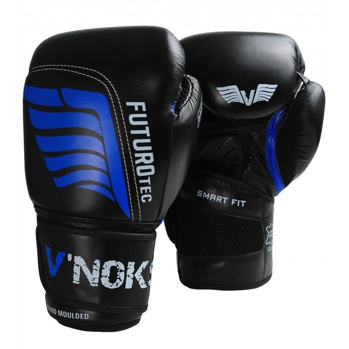 Боксерские перчатки V`Noks Futuro Tec 10 oz унций черный