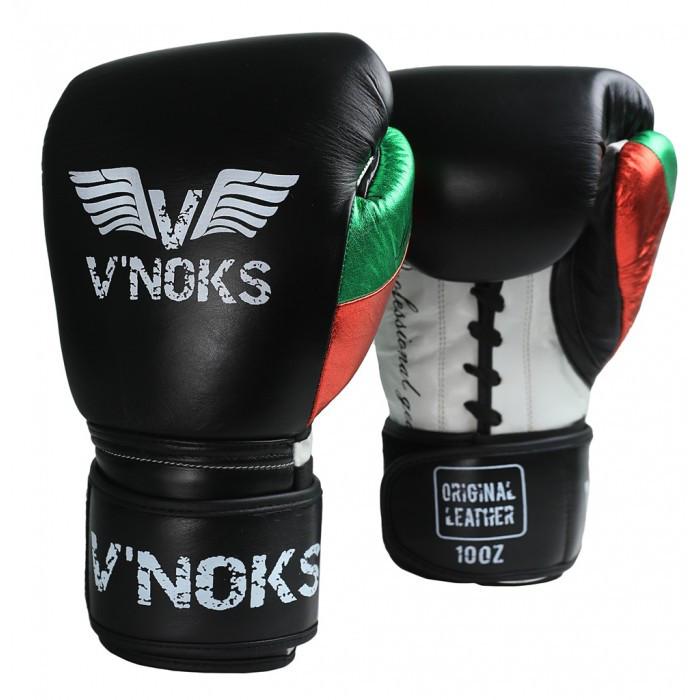 Боксерські рукавички V'Noks Mex Pro Training 8 oz унцій чорний