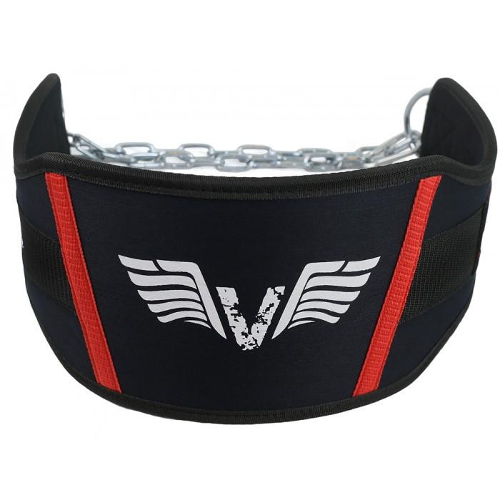 Пояс для дополнительных отягощений с цепью VNK (Винокс) черный