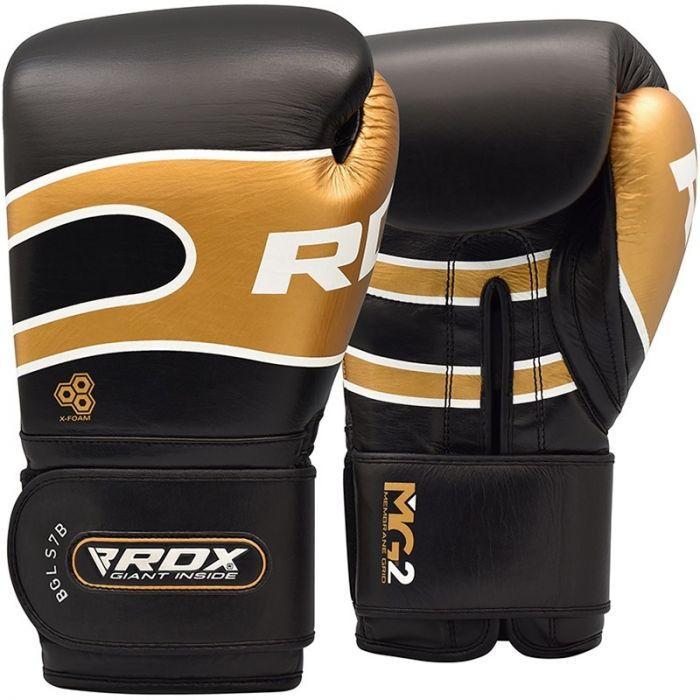 Боксерские перчатки RDX Bazooka 2.0 10 oz унций золотистый кожа