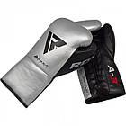 Боксерские перчатки RDX Leather Pro A3 Silver 10 ун., фото 2
