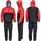 Костюм для похудения с капюшоном RDX Red New M черный с красным, фото 2