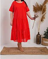 Легкое летнее платье свободного кроя в больших размерах