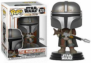 Фигурка Funko Pop Фанко Поп Звёздные войны Мандалорец Star Wars The Mandalorian 10 см Movies SW TM 326