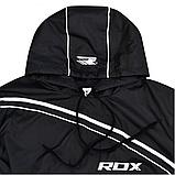 Костюм для похудения с капюшоном RDX Black 2XL, фото 4