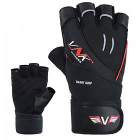Перчатки для фитнеса мужские VNK Power Black M черный