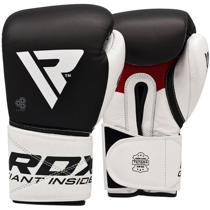 Боксерские перчатки RDX Pro Gel S5 16 oz унций кожа черный