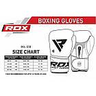 Боксерские перчатки RDX Pro Gel S5 16 oz унций кожа черный, фото 3
