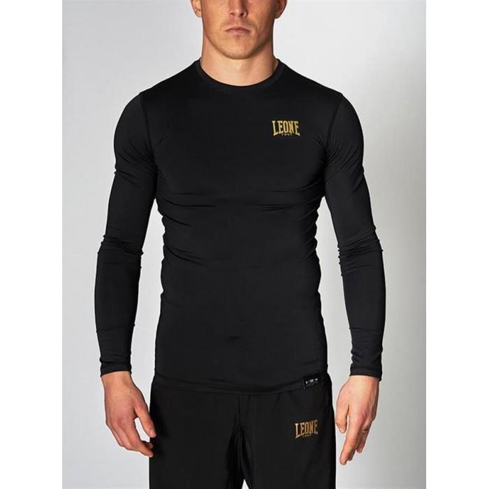 Рашгард для мужчин с длинным рукавом Leone Black/Gold M черный