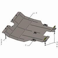 Защита двигателя кольчуга Chery Tiggo 5 2014- V-1,6i, фото 1