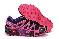 Кроссовки женские Salomon Speedcross 3 pink-black, фото 1