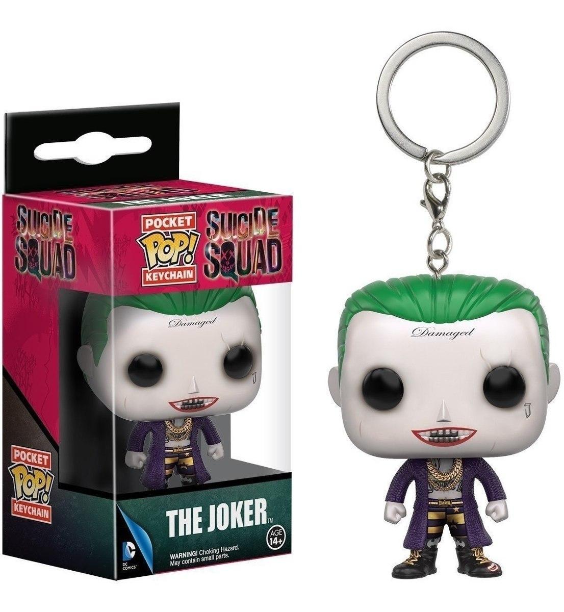 Фигурка-брелок Funko Pop Фанко Поп Suicide Squad Joker Отряд самоубийц Джокер 4 см SSJ
