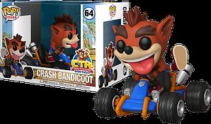 Фигурка Funko Pop Фанко Поп Крушение бандикут Крэш Бандикут Crash Racing Crash Bandicoot 10 cм Game CT 64