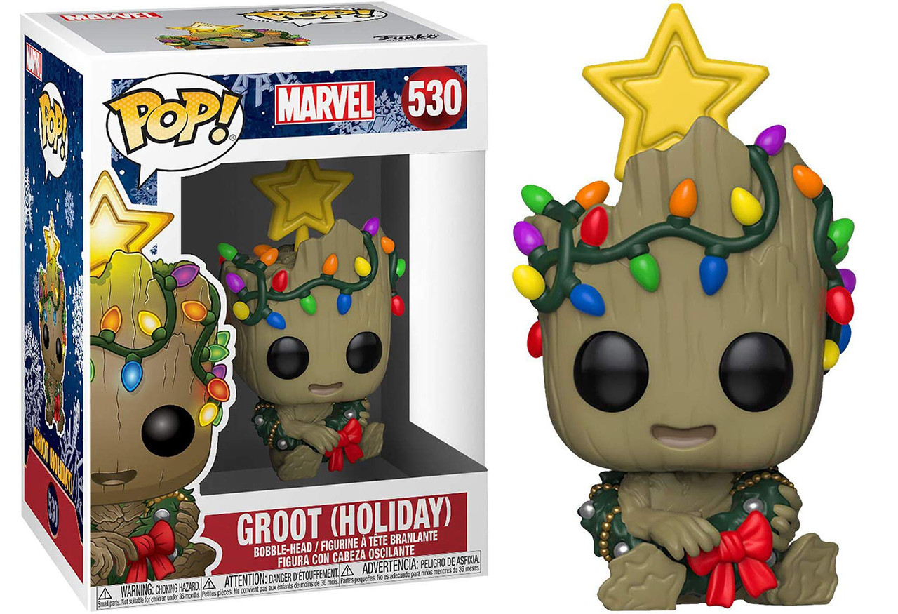 Фигурка Funko Pop Фанко Поп Праздничный Марвел Грут Marvel Holiday Groot 10 см MH G 530
