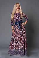 Нарядное длинное платье из трикотажа