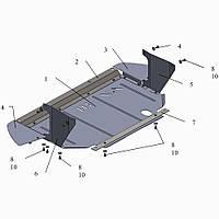 Защита двигателя кольчуга Fiat Grande Punto 2009- V-1,3D, фото 1