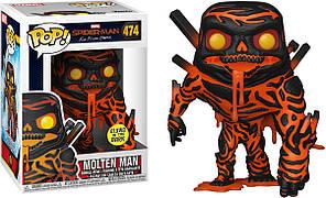 Фигурка Funko Pop Фанко Поп Человек паук Расплавленный человек Spider Man Molten Man 10 см SM MM 474
