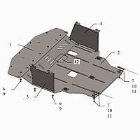 Защита двигателя кольчуга Hyundai Elantra V (F/L) 2014- V-1,6 , фото 1