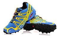 Кроссовки женские Salomon Speedcross 3 желто-голубые, фото 1