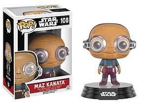 Фигурка Funko Pop Фанко Поп Звёздные войны Маз Катана в очках Star Wars Maz Kanata 10 см SW MK 108