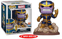 Фигурка Deluxe Funko Pop Фанко Поп Танос Marvel Thanos Snapping Thanos 15 см Т T 556