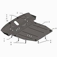 Защита двигателя кольчуга Kia Sorento II 2009-2012 V-2,4, 2,2D, фото 1