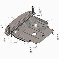 Защита двигателя кольчуга Kia Sorento II 2012-2015 V-2,2D; 2,4, фото 1