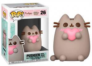 Фігурка Funko Pop Фанко Поп Пушини Кіт Пушини з серцем Pusheen Cat Pusheen with Heart 10 см Cartoon P PP 26
