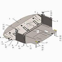 Защита двигателя кольчуга Kia Sportage III 2010-2015 2,0 Б, фото 1