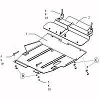 Защита двигателя кольчуга Mitsubishi Outlander 2003-2010 V-всі, фото 1