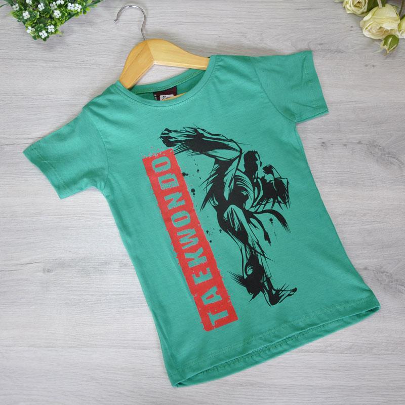 Детская футболка, трикотаж, для мальчика 5-8 лет (4 ед. в уп)