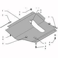 Защита двигателя кольчуга Nissan Micra 2002-2013 V-1.2; 1,4, фото 1