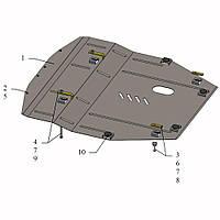 Защита двигателя кольчуга Nissan X-Trail III 2014- V-2,0i; 2,5;, фото 1