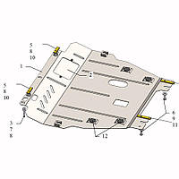 Защита двигателя кольчуга Renault Fluence  2012- V-2,0 i; 1,5 TDCI;, фото 1