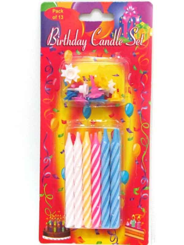 Свеча для торта 6726 Толстая (12шт)