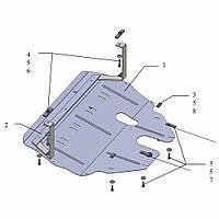 Защита двигателя кольчуга Seat Ibiza IV sport 2008- V-всі, фото 1