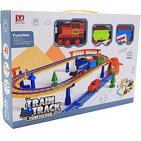 Железная дорога со звуковыми эффектами, 69х58 см, 195 деталей (PYK6)