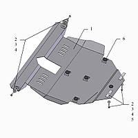 Защита двигателя кольчуга Toyota Auris 2006- V 1,8;, фото 1